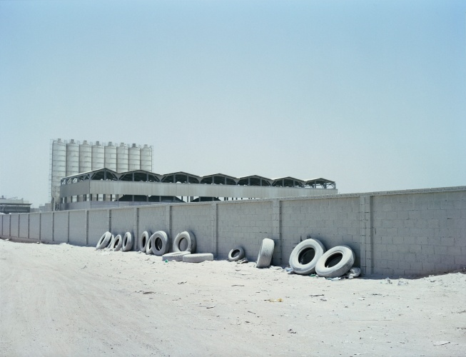 @ Sara Al Obaidly / Tyres, Industrial Estate, from the series, Concrete Diaries