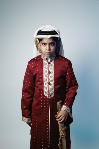 @ Sara Al Obaidly / Boy With Sword, from the series , Qatar: Old Hearts, New World