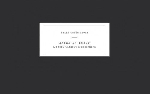 East Wing Special Edition - Emine Gozde Sevim - Embed in Egypt
