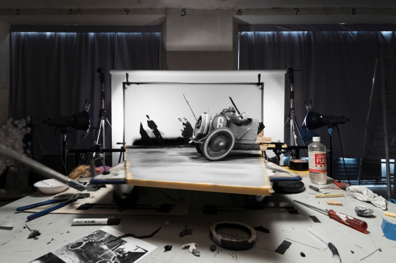 "© Cortis & Sonderegger, Making of Grand Prix de l'A.C.F"" (by Jacques-Henry Lartigue, 1912), 2016"