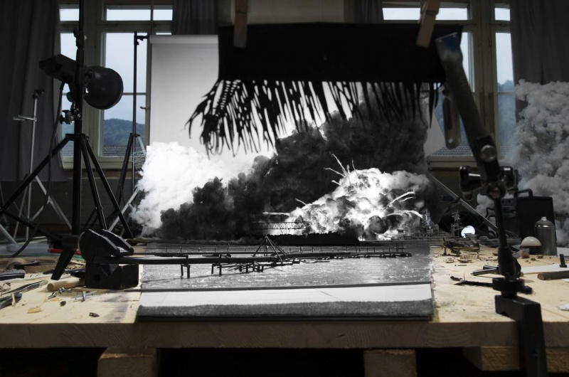 "© Cortis & Sonderegger, Making of ""Attack on Pearl Harbour"" (by unknown .U.S. Navy Soldier, 1941), 2015"
