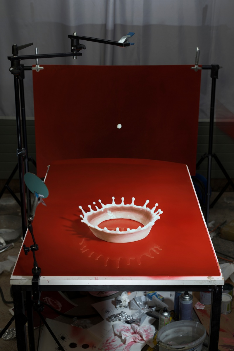 "© Cortis & Sonderegger,, Making of ""Milk Drop Coronet"" (by Harold Edgerton, 1957), 2016"